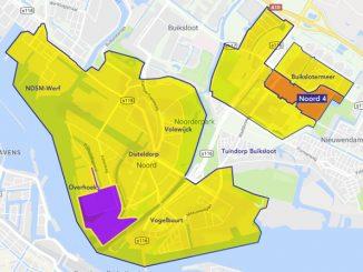 overzicht betaald parkeren bezoekers Amsterdam-Noord